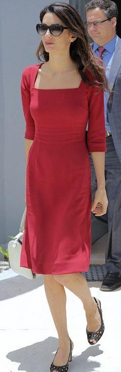 Amal Clooney: Dress – Dolce & Gabbana  Sunglasses – Heidi London