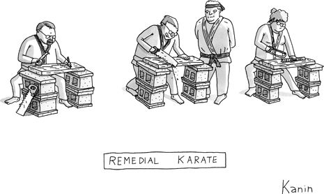 New Yorker Cartoon:  Remedial Karate