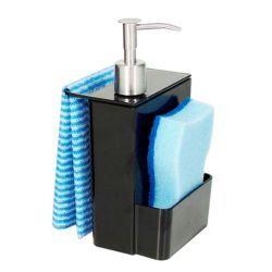 Porta detergente e esponja Coza de acrilico preto