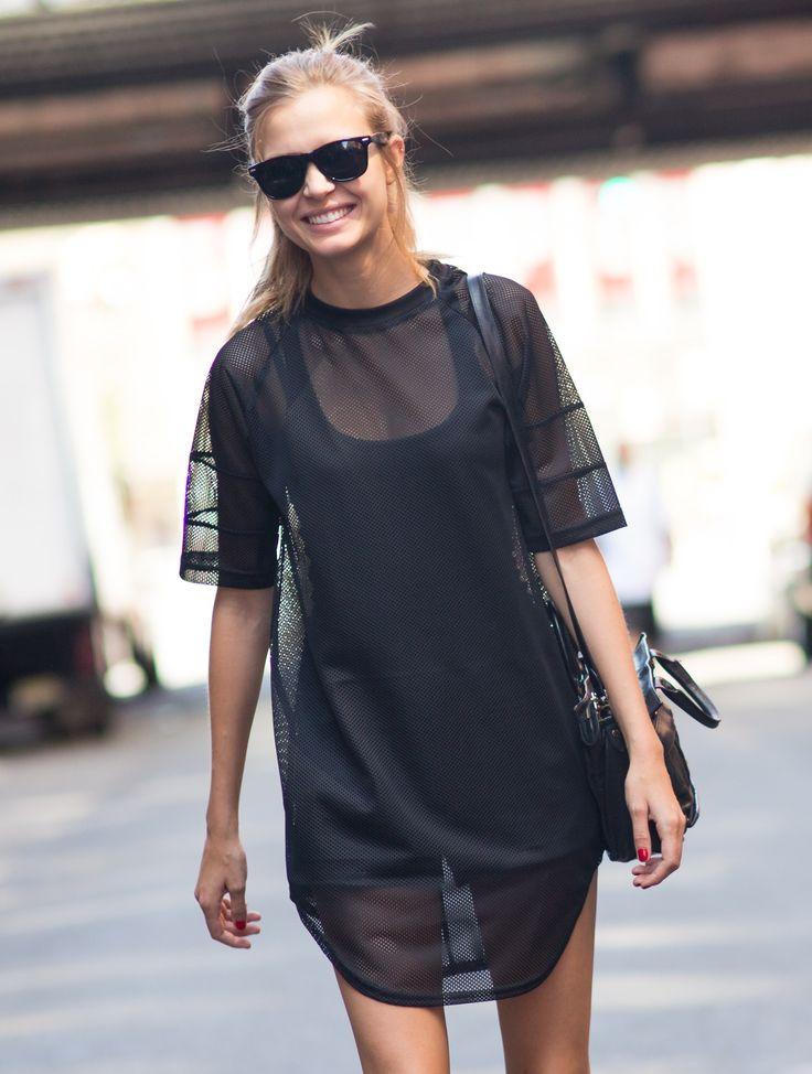 Street style NYFW SS15 #sheer