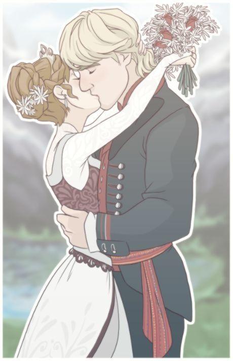 Anna and Kristoff.