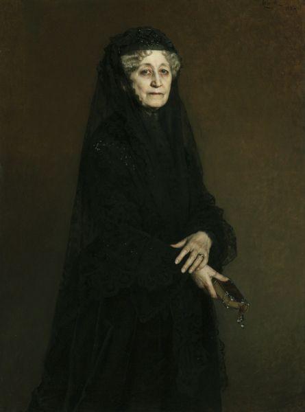 Portrait of Jadwiga Sapieha née Zamoyska painted by Leopold Horowit