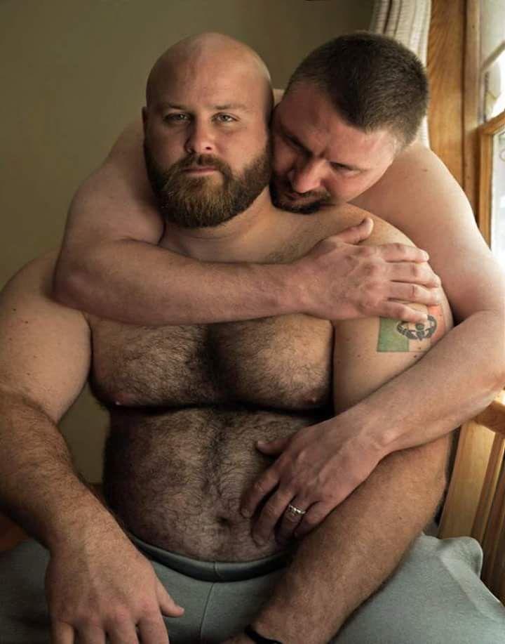 Hairy bear gay black police men
