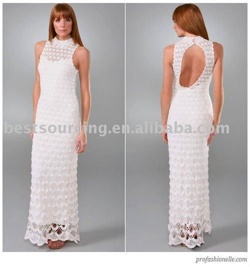 Source lady scallop pattern maxi hand made crochet dress floor length evening & wedding dress sweater knitwear with back keyhole BS-102 on m.alibaba.com