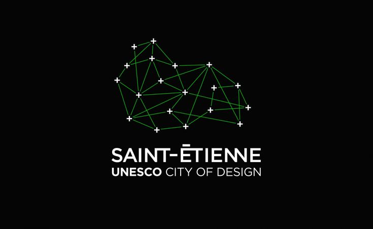 Network City of Design Logo Branding Black / green http://www.grapheine.com/divers/brand-design-st-etienne-city-of-design-unesco