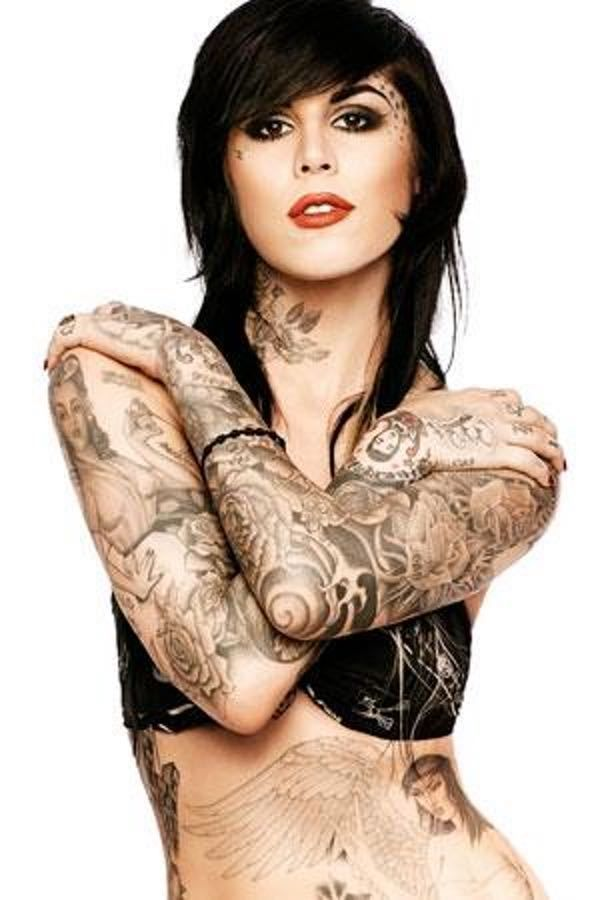 "Photo collection of celebrity Kat Von D, one of the hottest women in Hollywood. Kat started her TV career in 2005 as a star of ""Miami Ink."" She went on to star in LA Ink at her own tattoo shop, High Voltage. She's since been through a handful of celebrity relationships and was married to ..."