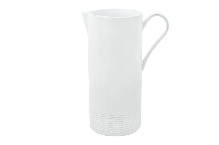 Canvas Home LLC Lines Pitcher White | Domino