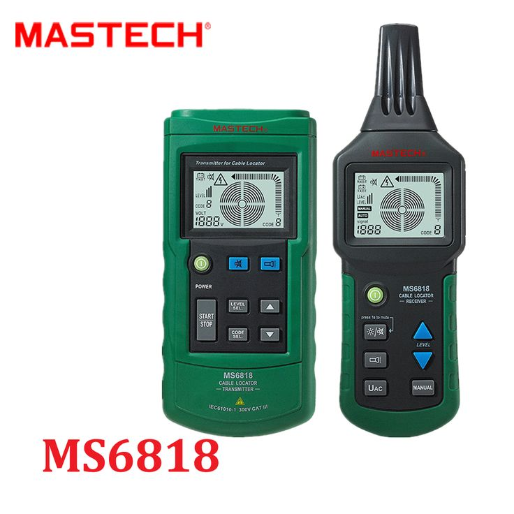 Mastech MS6818 Advanced Wire Cable Tracker Metal Pipe Locator Detector Tester Line Tracker Voltage12~400V CABLE LOCATOR RECEIVER #Affiliate