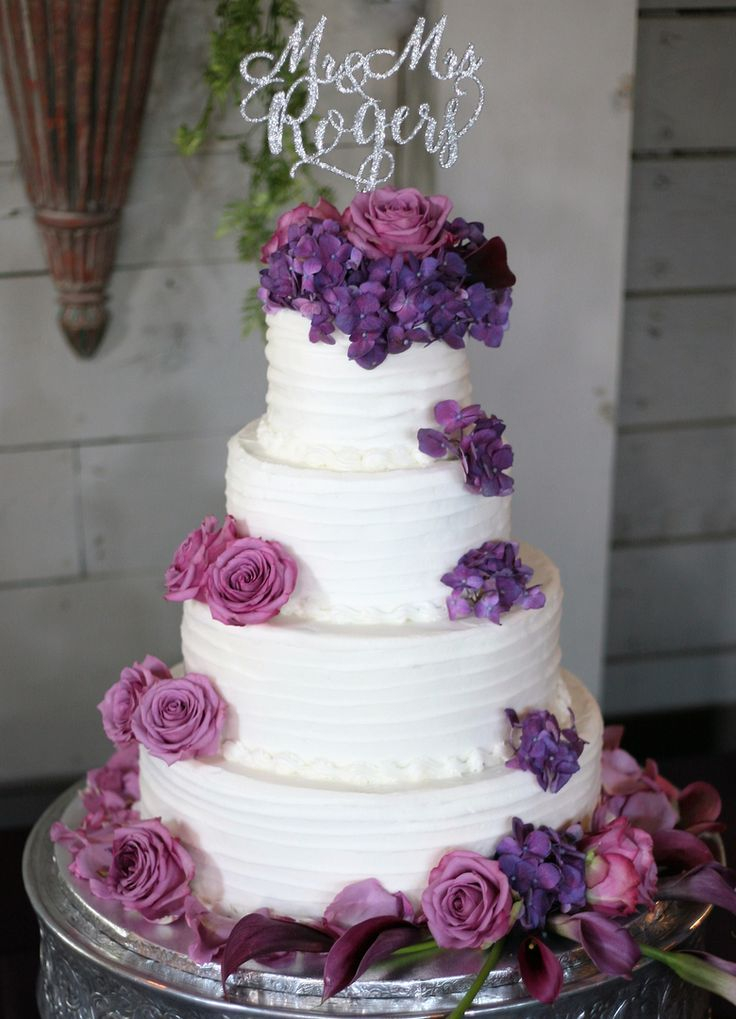 17 Best Images About Red Pink Purple Wedding Cakes On Pinterest
