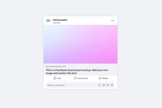 Facebook video mockup