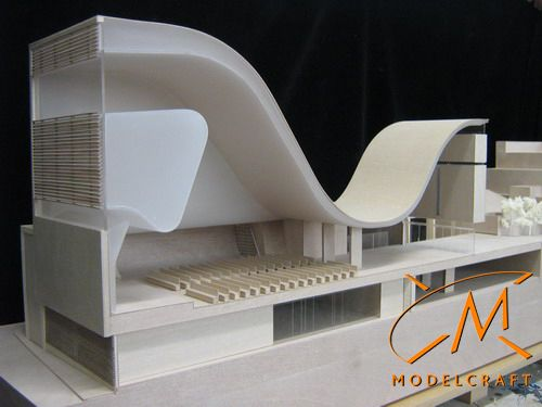 1:100 Timber & Acrylic Architectural Model by Modelcraft (NSW) Pty Ltd