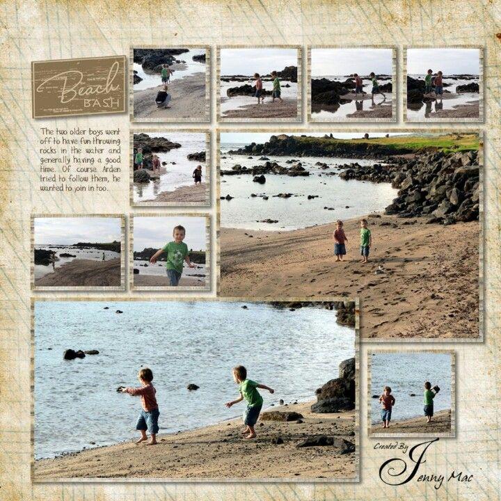 SCRAPBOOK beach page