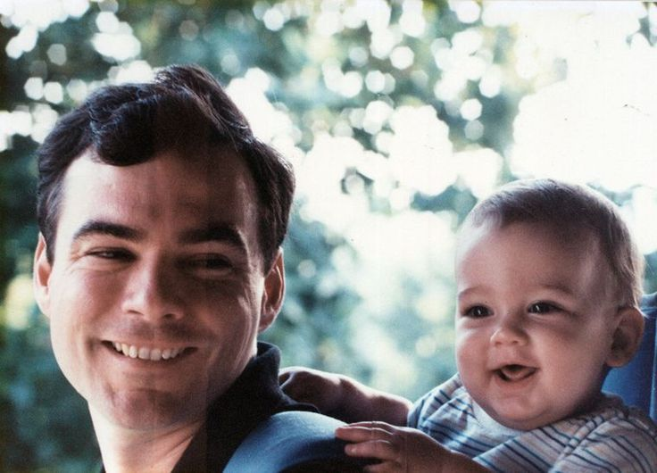 Tim Kaine with his son, Nat, in 1990.