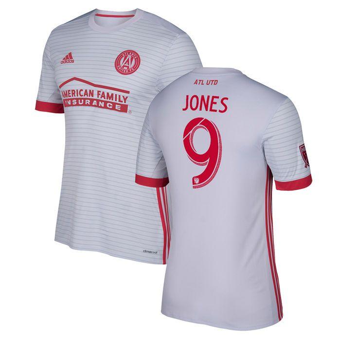 Kenwyne Jones Atlanta United FC adidas Youth 2017 Secondary Replica Jersey - Gray/Red - $94.99