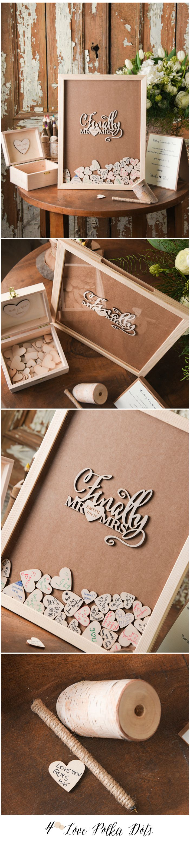 Finally Mr & Mrs <3 Wooden wedding alternative guest book dropbox #wood #wooden #rustic #weddingideas #rusticwedding #guestbook #dropbox #unique #wedding