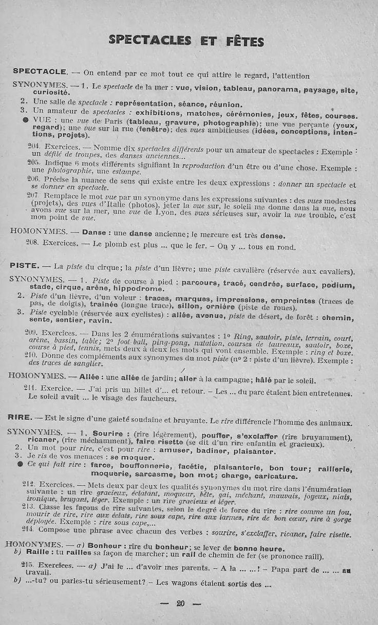 Synonymes et Homonymes (J'apprends seul..., Collection L'essentiel) ...