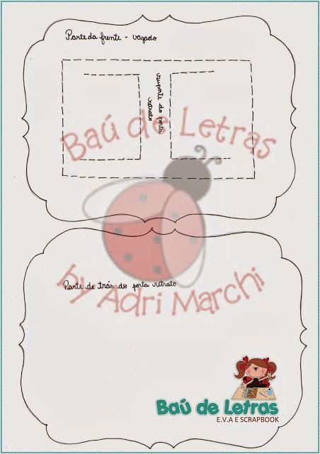 .::BAÚ DE LETRAS::. E.v.a. e Scrapbook: Molde Moldura Pai Natal