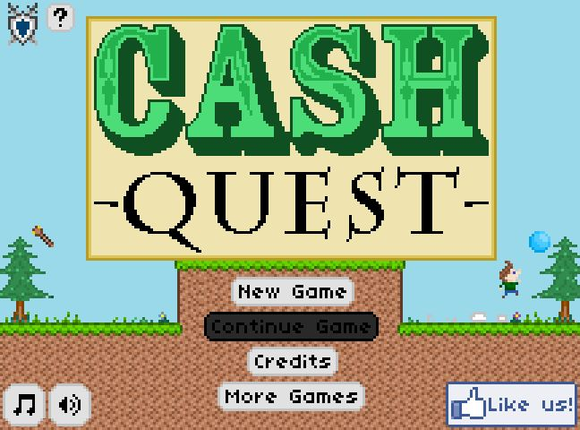 Cash Quest - Control a boy to collect items to sell at his shop!!
