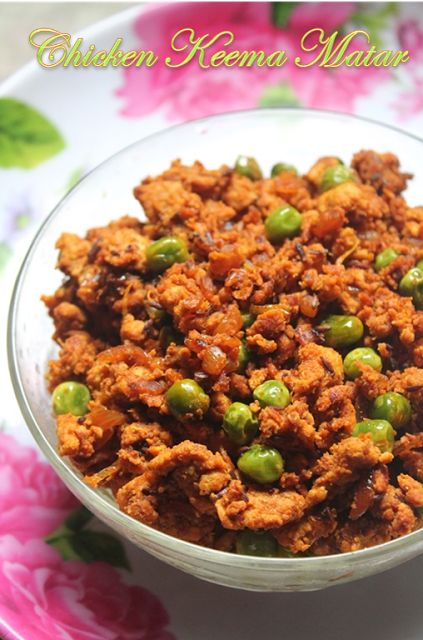 YUMMY TUMMY: Quick Chicken Keema Matar Recipe - Stir Fried Minced Chicken with Green Peas