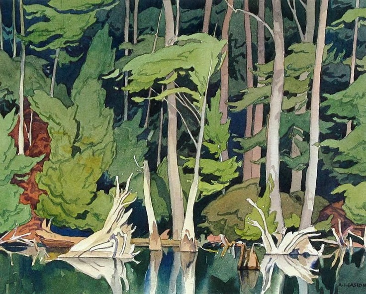 Alfred Joseph Casson - Blue Heron, Color Lithograph