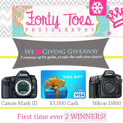 We LOVE Giving Giveaway from Forty Toes Photography!
