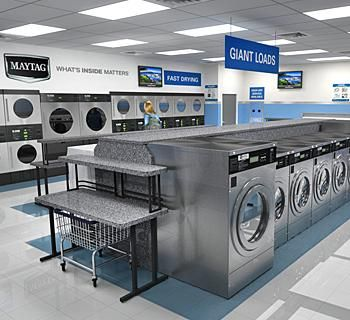 Maytag® Commercial Laundry saw the need in the market for a well-designed, aesthetically pleasing and branded store. Description from americancoinop.com. I searched for this on bing.com/images