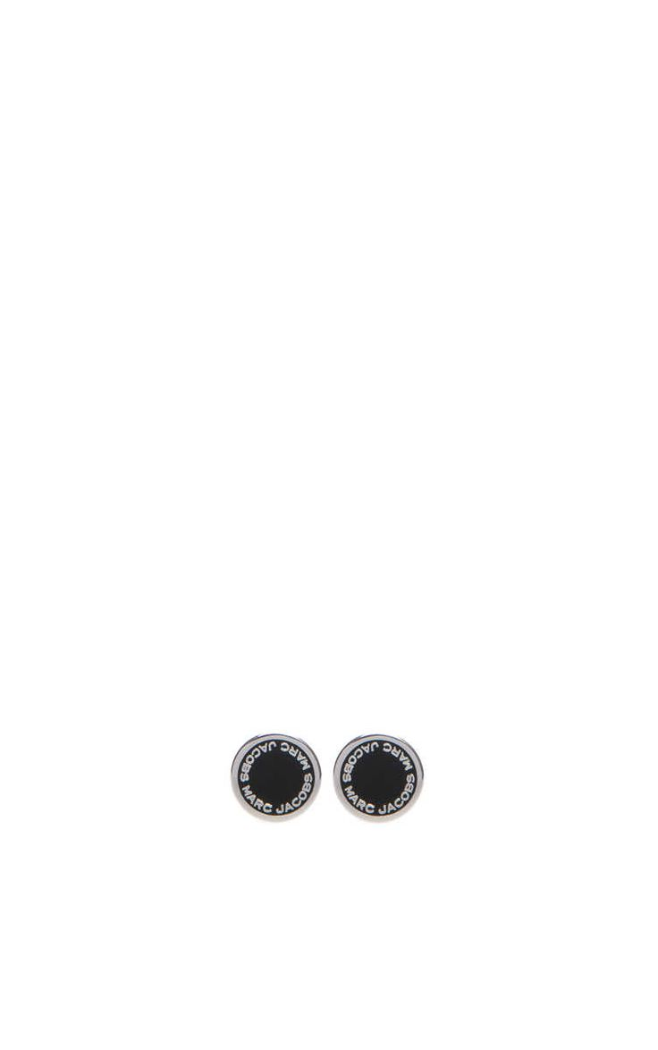 Örhänge Logo Disc BLACK/SILVER - Marc Jacobs - Designers - Raglady
