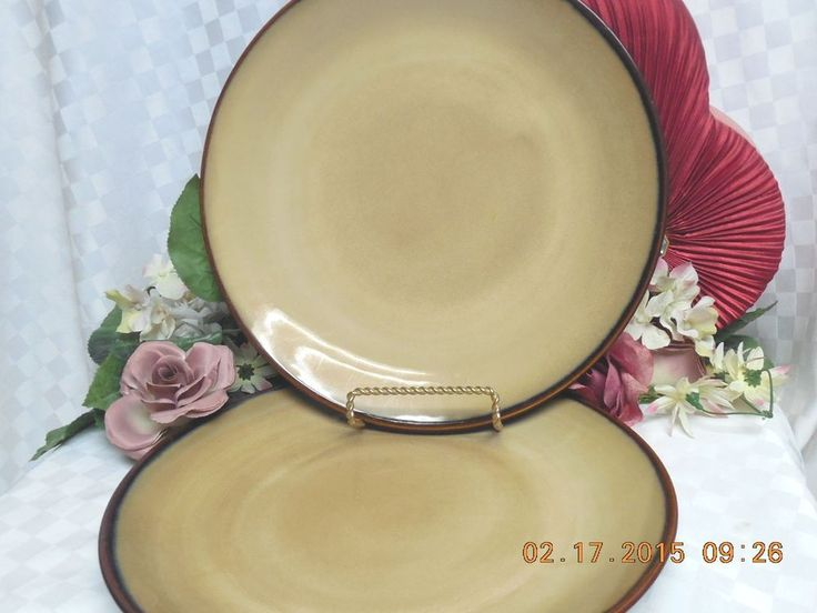 brown and green kitchen sango brown stoneware china brown 4933 set 2 dinner 4933