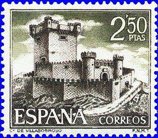 EL CASTILLO DE VILLASOBROSO ( Prov, de Pontevedra) FUÉ EL PRIMER CASTILLO DE GALICIA, LLEVADO A LOS SELLOS DE CORREOS.-