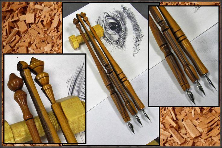 Handmade Calligraphy Nib Holder Wood Dip Pen Holder