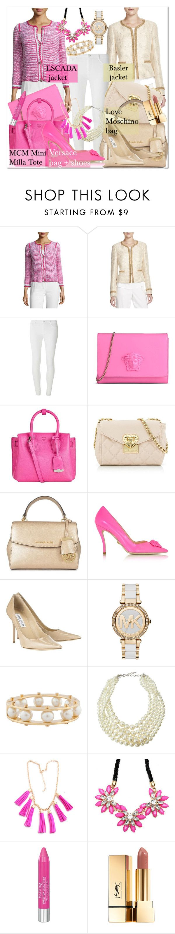 """""""Casual Friday Office Look"""" by pureglamchic ❤ liked on Polyvore featuring ESCADA, Basler, Dorothy Perkins, Versace, MCM, Love Moschino, MICHAEL Michael Kors, Jimmy Choo, Michael Kors and Lele Sadoughi"""