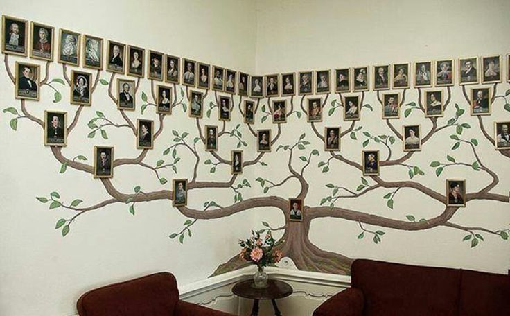 Arbol familiar pintado en la pared | Cosas curiosas | Pinterest