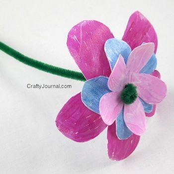 Crafty Journal - Milk Jug Flower