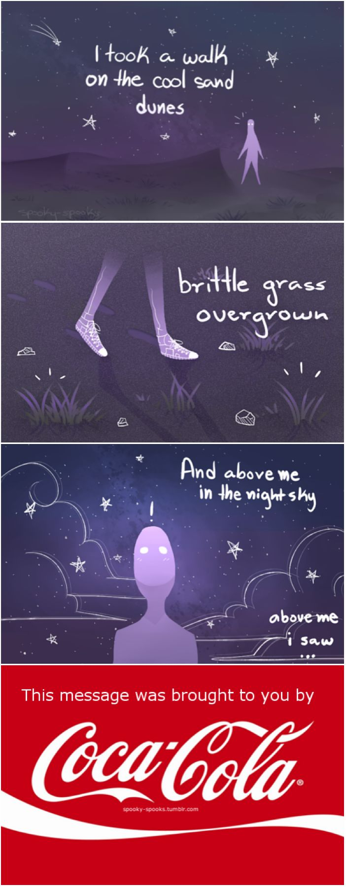 Welcome to Nightvale a message from our sponsors (Coca-Cola) comic by spooky-spooks on Tumblr