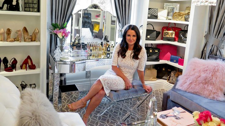 "Kyle Richards feels less guilty when she thinks of her new space as a ""dressing room"" instead of a ""closet."""