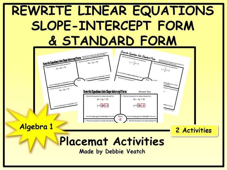 161 Best Debbies Algebra Activities Images On Pinterest Algebra