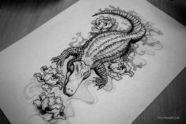 alligator tattoo designs - Google Search