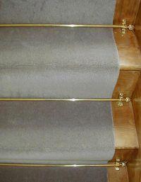 Tringles pour tapis d'escaliers Celtic -  Décor Laiton poli - Embouts pomme de pin