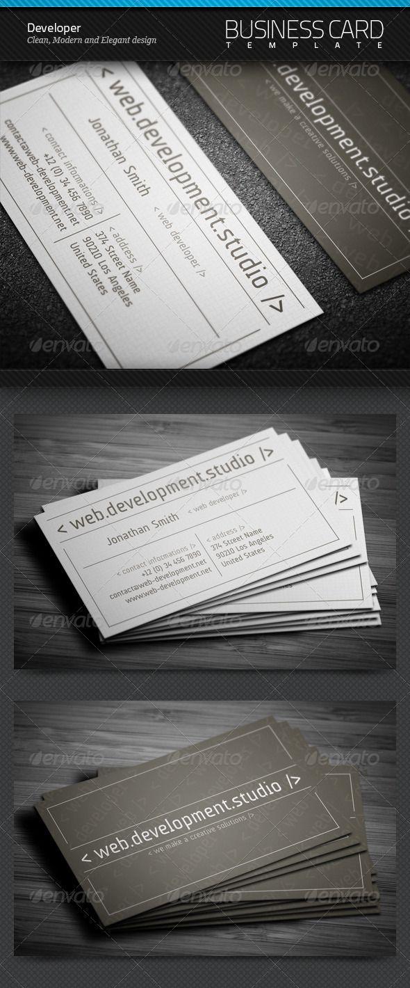 54 best business card designs images on pinterest printables developer business card magicingreecefo Choice Image