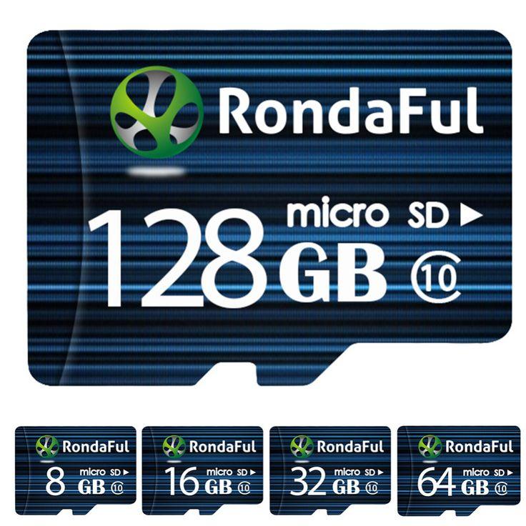 Rondaful Micro Sd-karte 64 GB Class 10 8 GB-128 GB Class10 UHS-1 32 GB/128 GB C10 Flash-speicher Microsd Speicherkarte für Smartphone