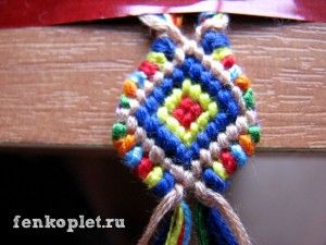 DIY | FRIENDSHIP BRACELET (fenkoplet) In Russian, but with pictures.