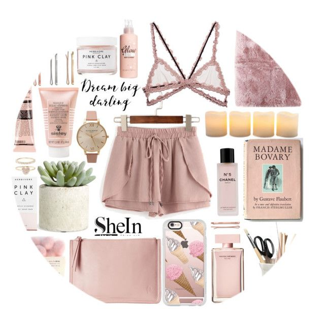 """""""Pink shorts."""" by sati199308 on Polyvore featuring мода, Herbivore, Allstate Floral, Fleur du Mal, Madewell, Casetify, Sisley Paris, Narciso Rodriguez, La Perla и ESSEY"""