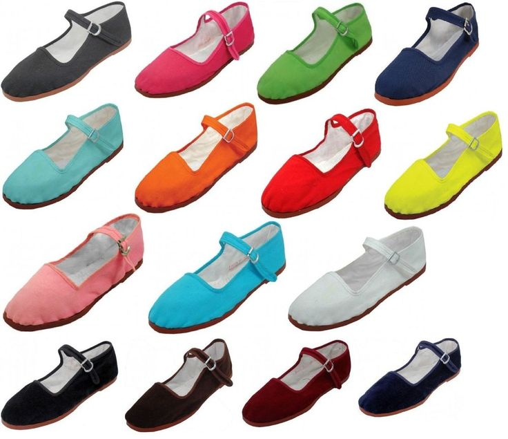 Womens Cotton Mary Jane Shoes Ballerina Ballet Flats Shoes 15 Colors #Shala #MaryJanes