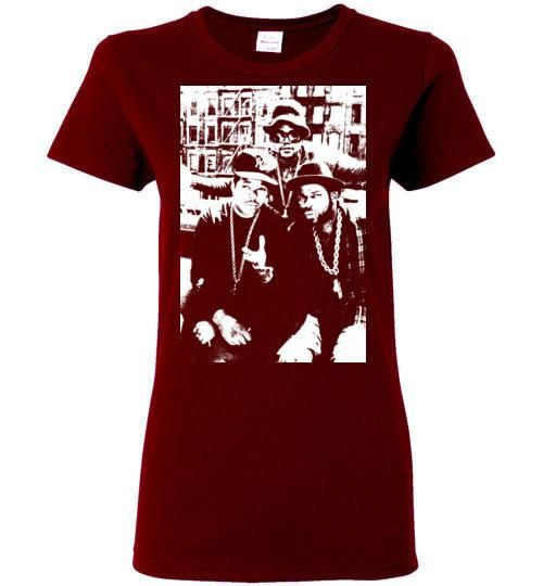 RUN DMC, Classic Hip Hop,New York,Old School Rap,Def Jam,v2, Gildan Ladies T-Shirt