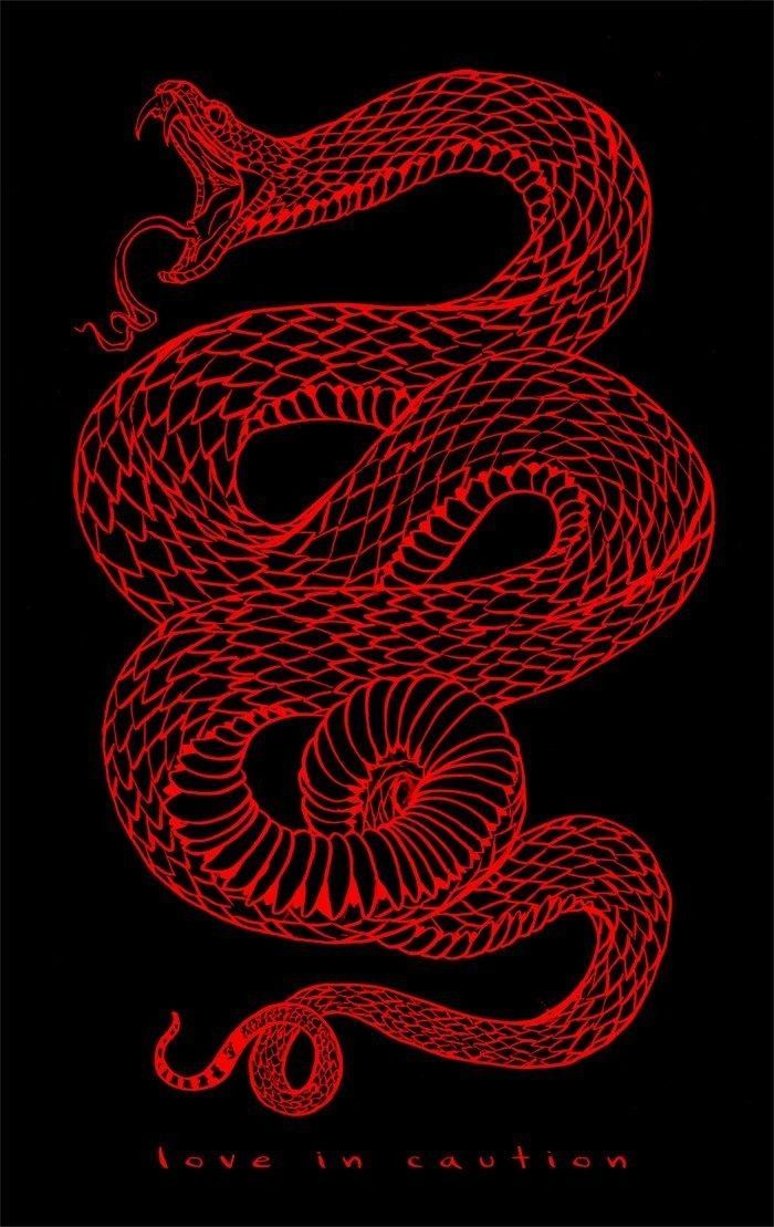 I would kill for you Serpent Pinterest Tattoo Red