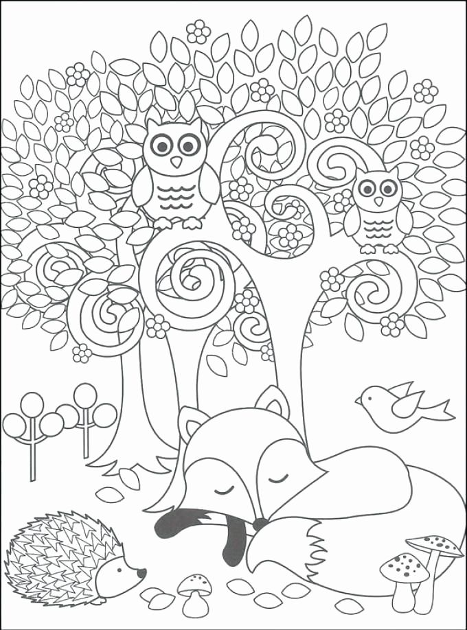 Woodland Animals Coloring Page In 2020 Animal Coloring Pages