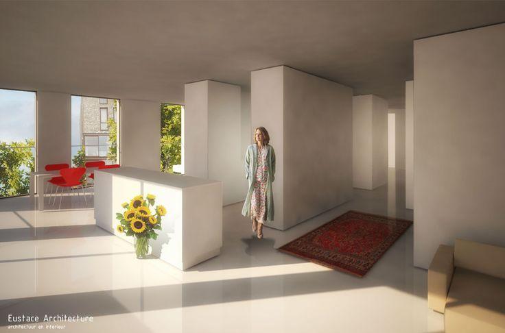 Duurzame CPO zelfbouw loft appartementen (interieur beeld appartement woonkamer) - Loft casco appartementen   Eustace Architectuur