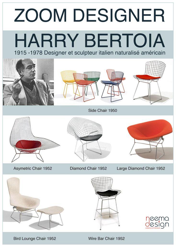 Harry Bertoia - icons of the 20th Century http://decdesignecasa.blogspot.it