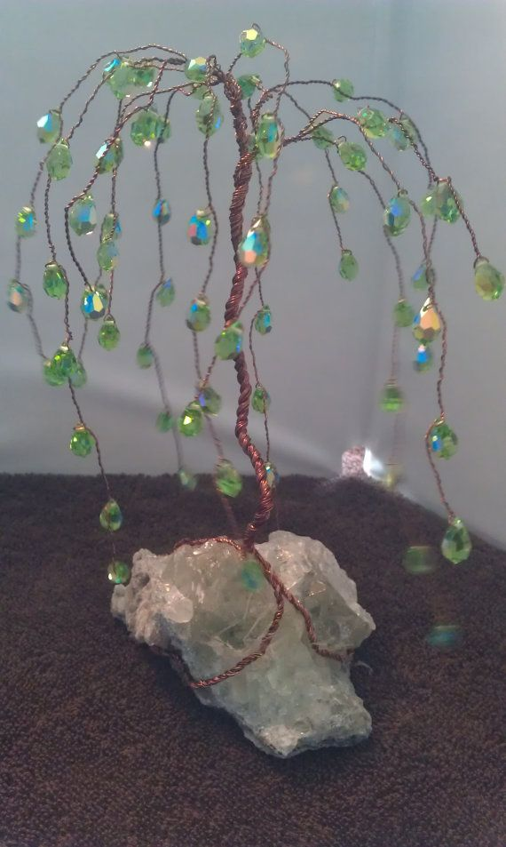 Willows have always been my favorite tree. When a friend showed me how to make them with gems/crystals, I went a little crazy making a
