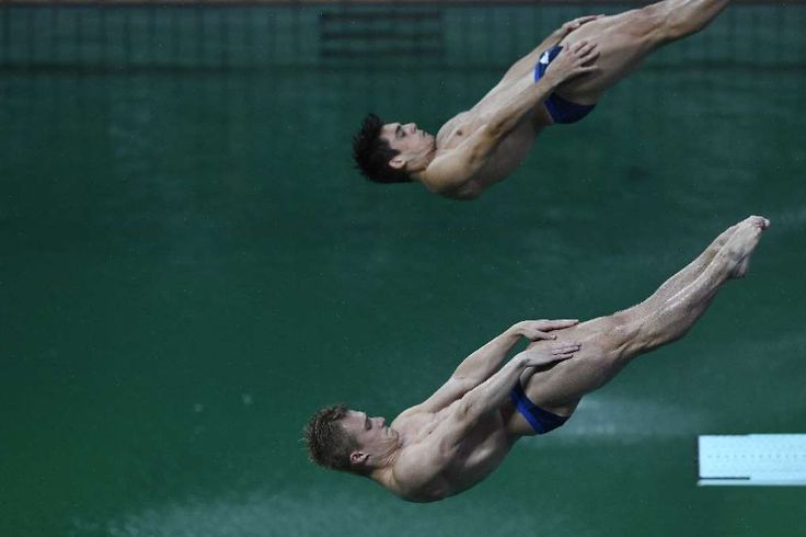 Britain drowns China's hopes of diving sweep in Rio  -  August 10, 2016  -     Great Britain's Jack Laugher and Chris Mears compete in the men's synchronised 3m springboard final in Rio on August 10, 2016